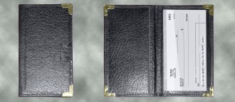 Deluxe Checkbook Cover With Pen Holder